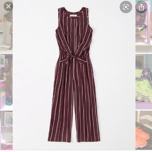 Abercrombie and Fitch kids maroon jump suit